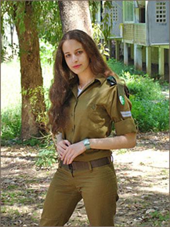 девушка в израильской армии