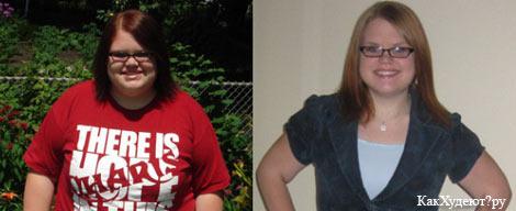 Фото Кристины до и после похудения