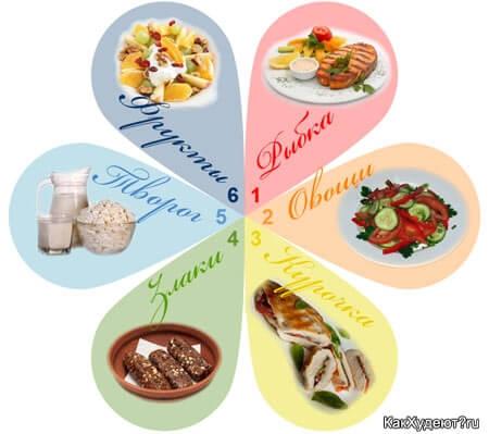 диета шести лепестков психологическая мотивация