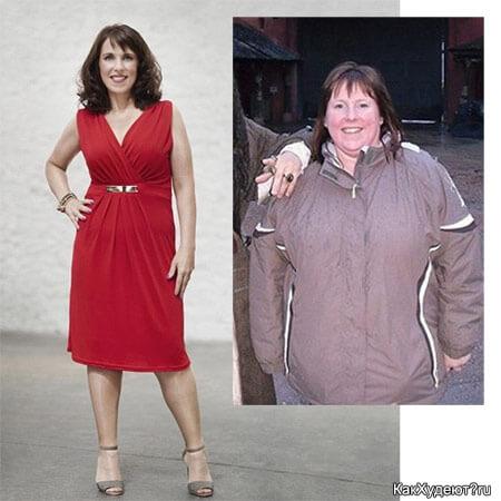 Кэти Левик до и после похудения