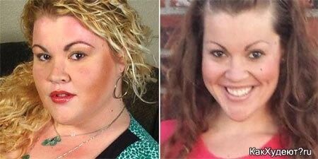 До и после курса похудения