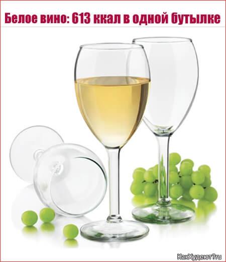 Сколько калорий в белом вине?