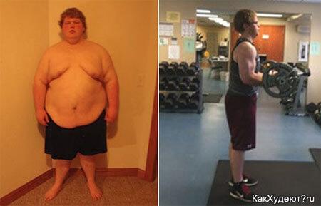 Трой Фокс до и после похудения