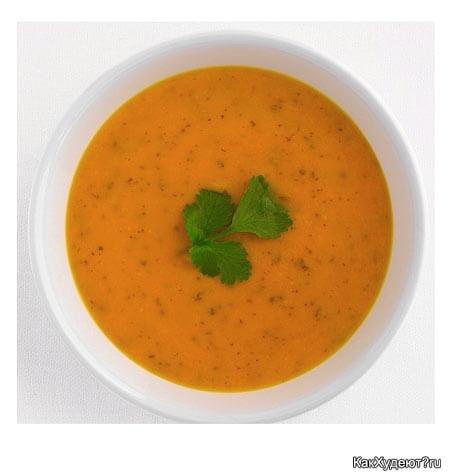 Острый суп-пюре с картошкой